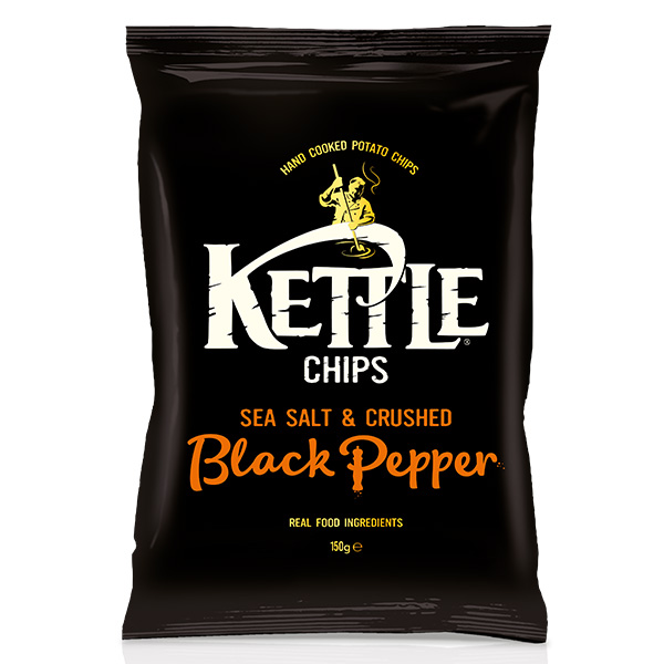 Kettle Chips - Sea Salt and Crushed Black Pepper - One Hour Wines