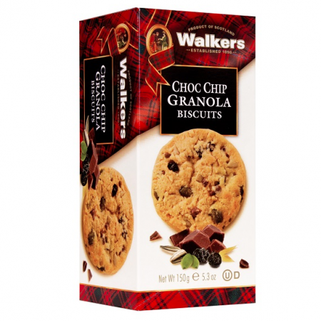 Walkers Shortbread Biscuits Choc Chip Granola 150g - One Hour Wines Malta
