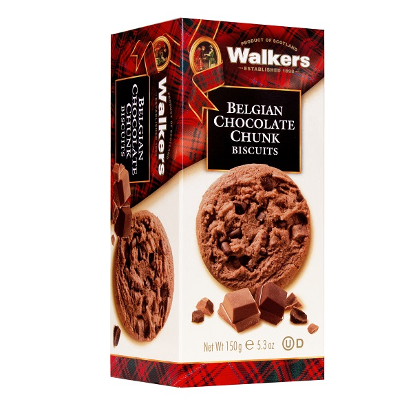 Walkers Shortbread Biscuits Belgian Chocolate Chunk 150g - One Hour Wines Malta